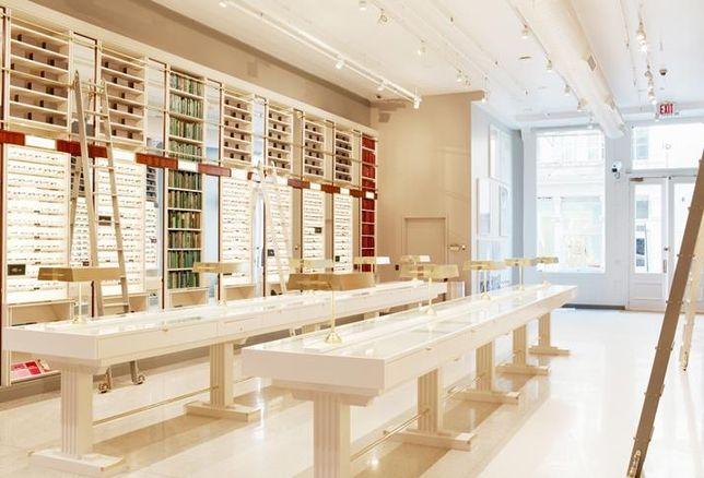 Warby Parker's NY flagship store on Greene Street credit: Warby Parker