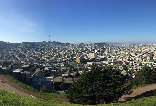 Extreme Wide Shot of San Fran