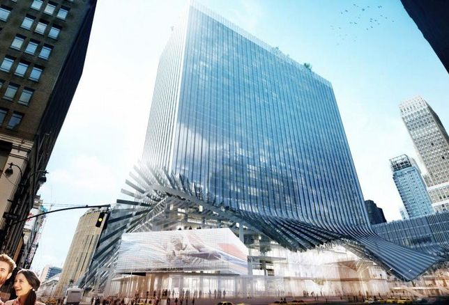 The Redesigned Two Penn Plaza Will Have A Façade That Splays Out Like A Dress