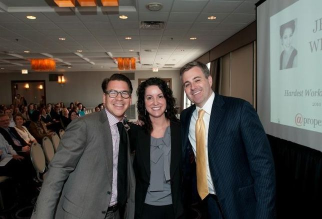 @properties co-founders Thad Wong (left) and Michael Golden, with The Jeanine Wheeler Group's Jeanine Wheeler