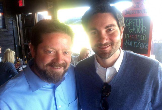 Josh Hedderich And Sean Dalton Mingle At YP's Crawfish Boil