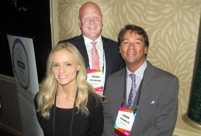 VMG Health's Jessica Nickerson, Doug Hillrichs and John Trabold at Bisnow DFW healthcare event Apr '16 Bisnow: Catie Dixon