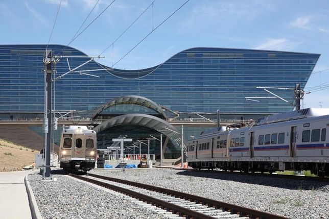 Airport, Downtown Connected By Train