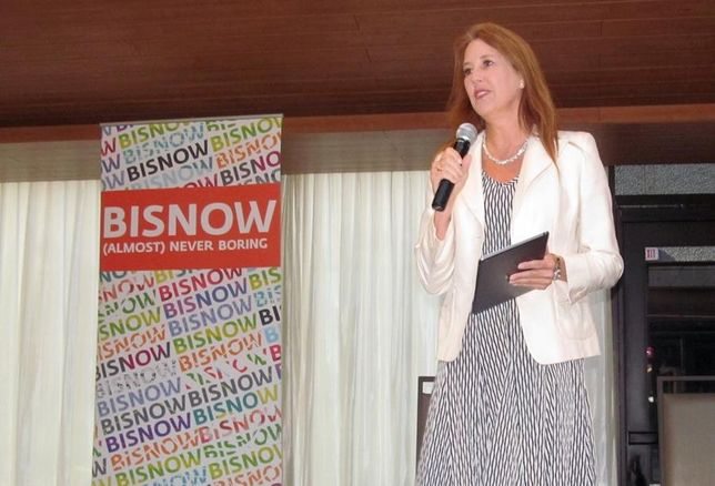 Texas Central/high speed rail managing director Holly Reed at Bisnow's Downtown Dallas event May '16