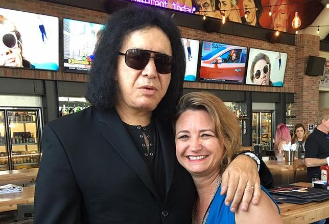 Pam Goodwin Parties With Gene Simmons At Rock & Brews Opening
