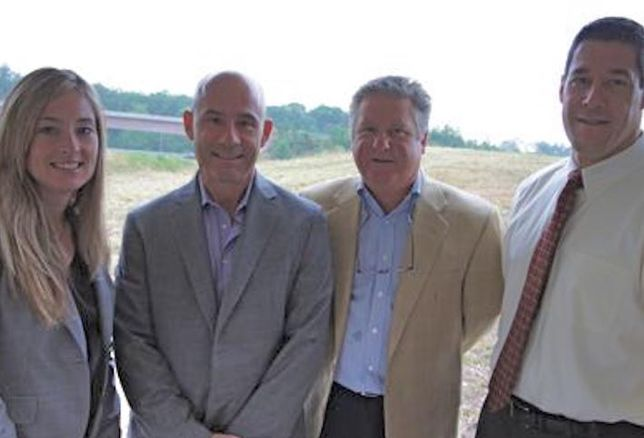 KLNB's Melissa Welch, Greenfield Partners' Jim Duszynski, and KLNB's Cary Judd and Dallon Cheney, snapped in 2011. Cary Judd died May 2016