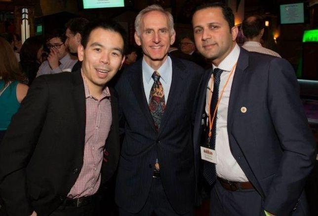 Cyclone Energy's Will Mak, Golub & Co CEO Michael Newman and CMK director Prasan Kale