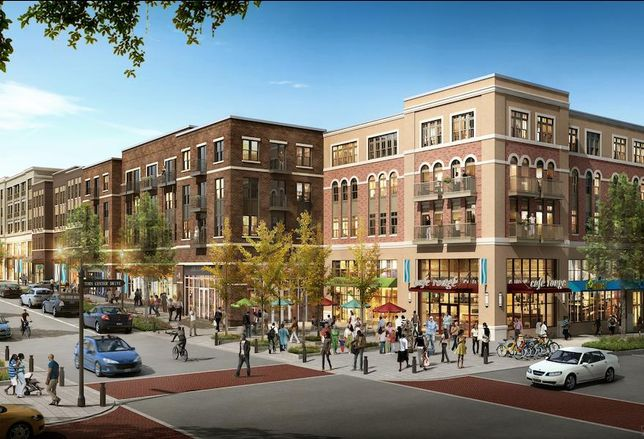 Rendering of Skyland Town Center in Ward 7
