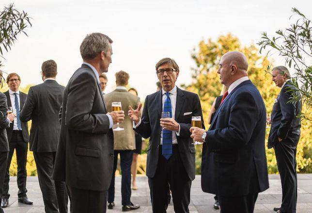 Pioneer Ventures CEO Curtis Large, German Ambassador H.E. Peter Witting, DLA Piper senior partner Jeffery Houle