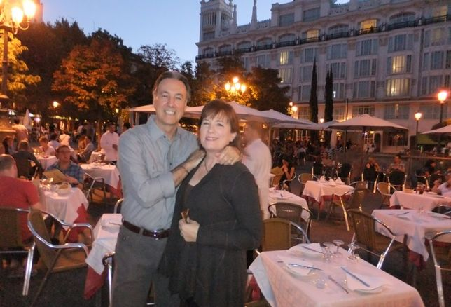Pete Garcia pictured his wife, Beth Callender, on vacation in Madrid.