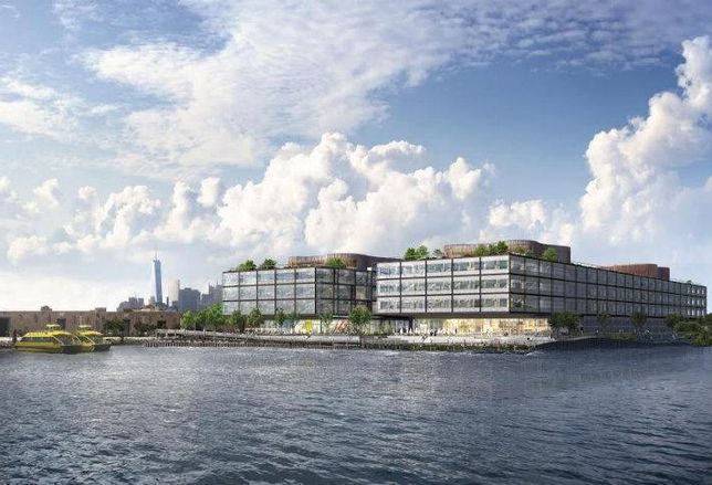 A rendering of Thor's new 623k SF project in Red Hook.