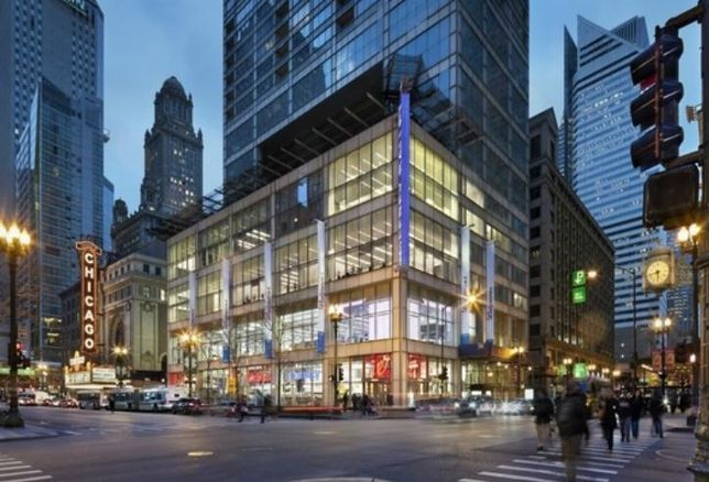 The Walgreens Chicago flagship store at State and Randolph Streets was part of a $150M retail deal between Acadia Realty Trust and Smithfield Properties