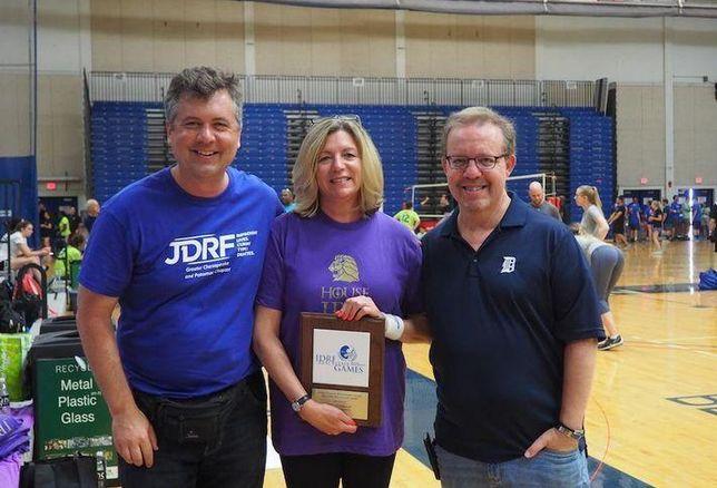 Adam Singer, JBG's Jill Goubeaux and JDRF's Bill Parsons.