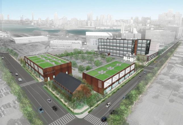 Steiner Equities' planned retail buildings along Admiral's Row.