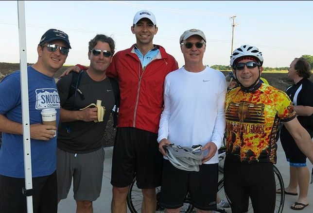 CBRE's Ryan Thornton, Josh McArtor, Travis Ward, Jack Fraker, Steve Berger during the South Dallas 100
