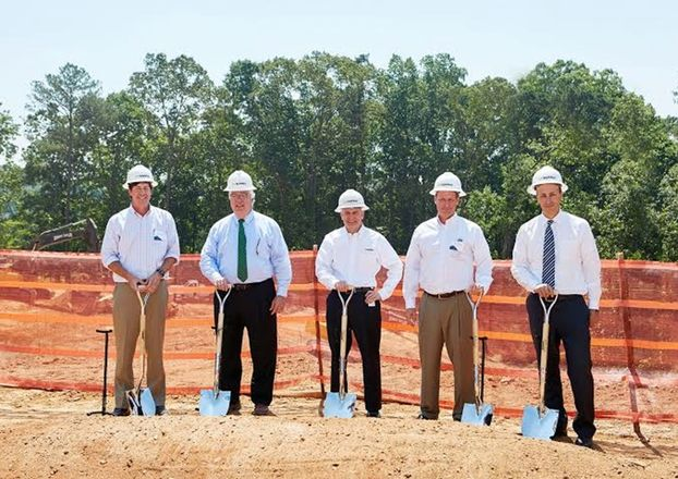 Colliers International's Douglas Biggs, Cobb County Board of Commissioners Chairman Tim Lee, HD Supply CEO Joe DeAngelo, Greenstone Properties' De Little and Georgia Department of Economic Development's Tom Croteau HD Supply