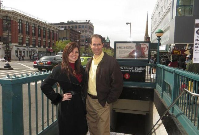 Eastern Consolidated's Adelaide Polsinelli and New York Historical Tours director and historian Kevin Draper.