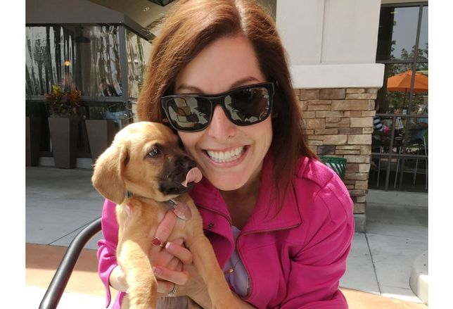 Darcy Miramontes and her dog Dash, JLL San Diego