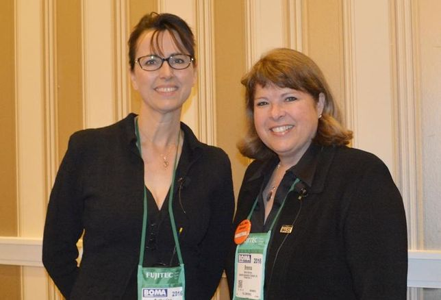 Albest International CEO Catherine Lai and Corporate Sustainability Strategies CEO Brenna Walraven, a BOMA Fellow