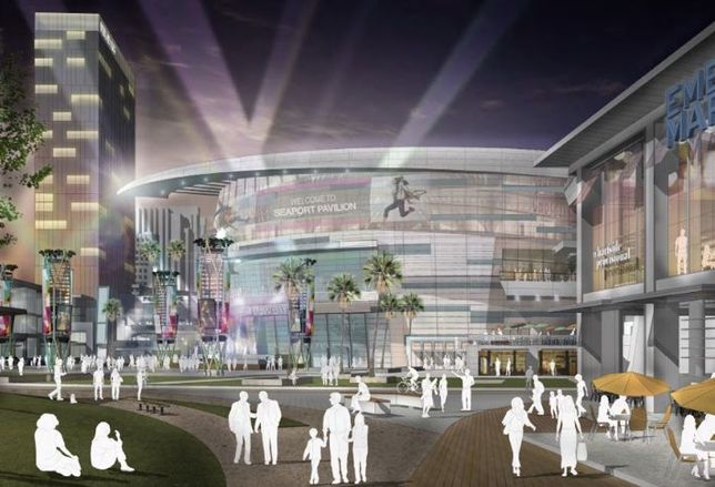 If OliverMcMillan's proposal for an Embarcadero District is selected to redevelop Seaport Village, AEG will build an 18-seat arena there.