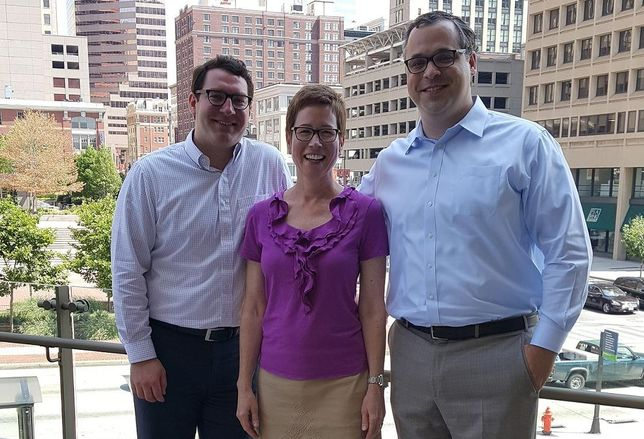 Michael Singer, Clare Berrang and Matt Lunnen of Newmark Grubb Knight Frank