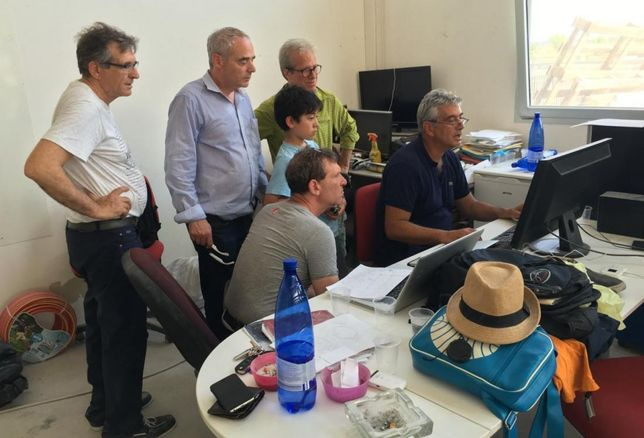 The D-Shape group at work in Italy.