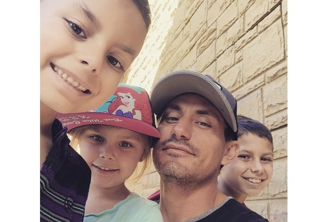 RAF Pacifica Group's Adam Robinson with his children, Kellan, Reed and Asher
