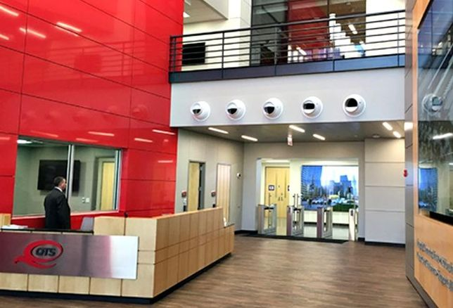 A look at the lobby of QTS' new data center at 2800 South Ashland Avenue in Chicago