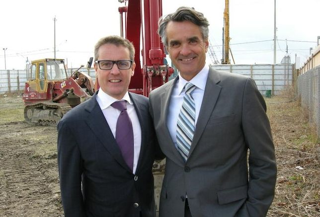 Great Gulf president Christopher Wein and VP high-rise Alan Vihant.