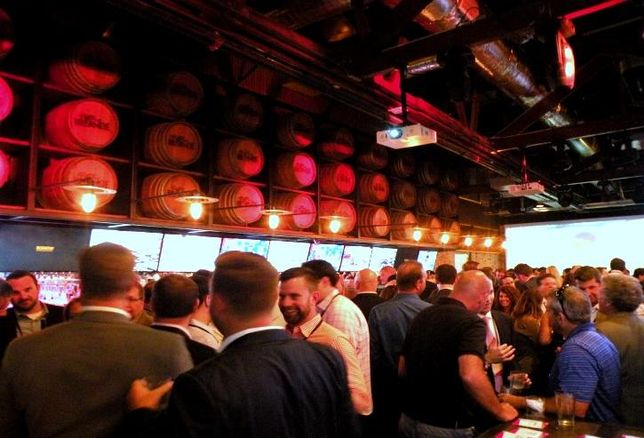 A look at the crowd at Bisnow's Summertime Schmooze in Chicago.