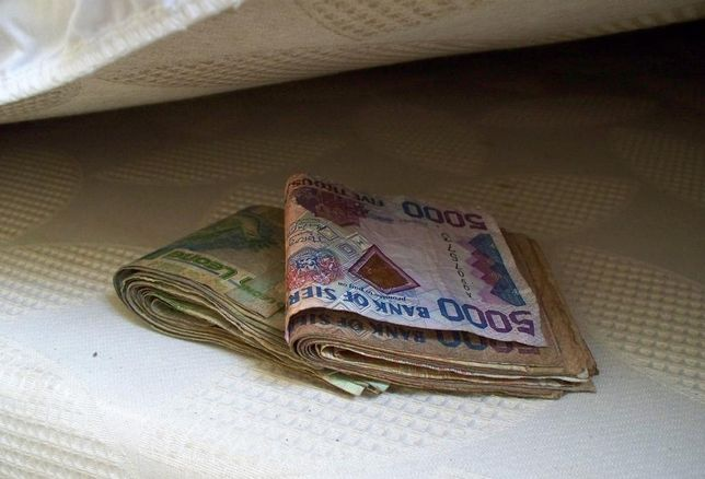 Money under bed