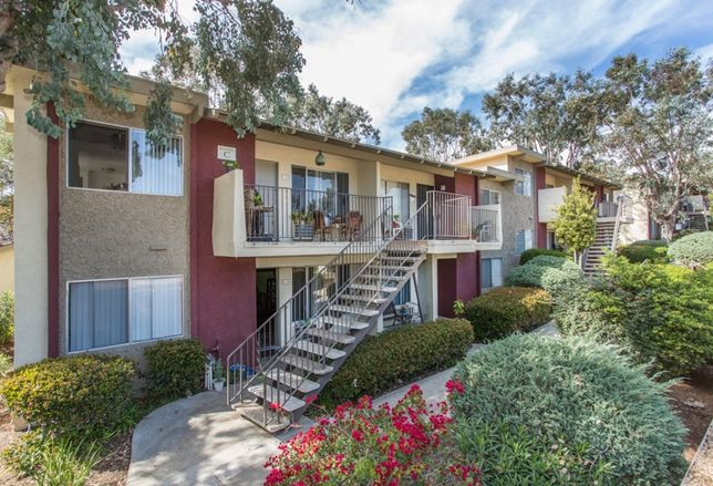 The 124-unit Mesa Garden apartments in Vista sold from $24.2M, or $195k/unit.