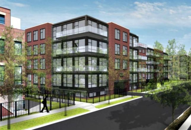 A rendering of a proposed multifamily project at 1730 West Wrightwood Avenue in Lincoln Park, Chicago.