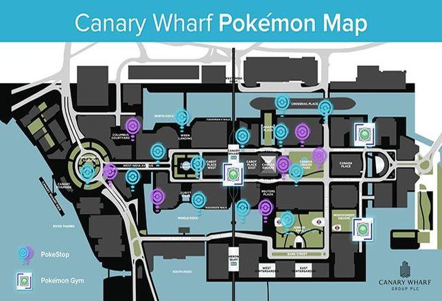 Canary Wharf Pokémon Go Map