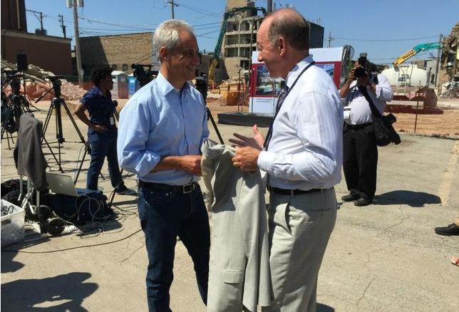 Chicago Mayor Rahm Emanuel and Bucksbaum Retail Properties CEO John Bucksbaum