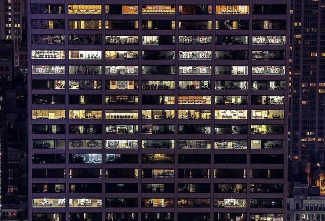 Office Building, office lights