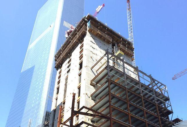 3 World Trade Center Struck By Crane