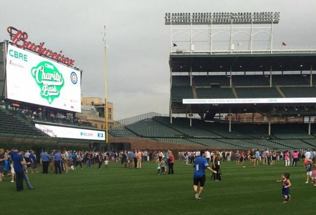 Guests At CBRE's 9th Annual Charity Bash at Wrigley Field