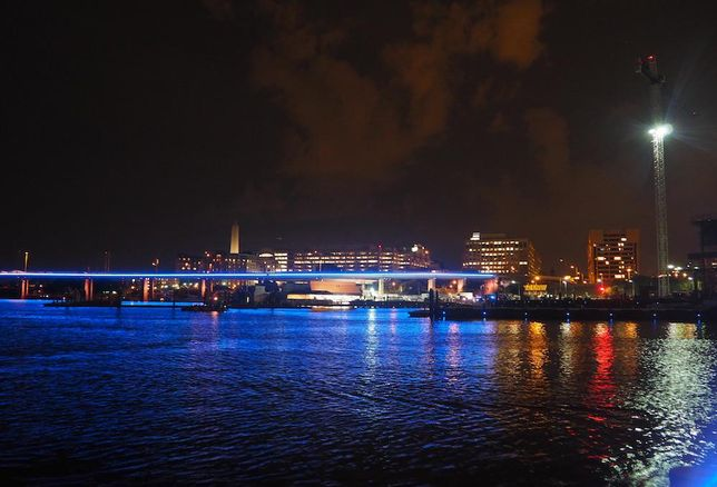Francis Case Memorial bridge lighting