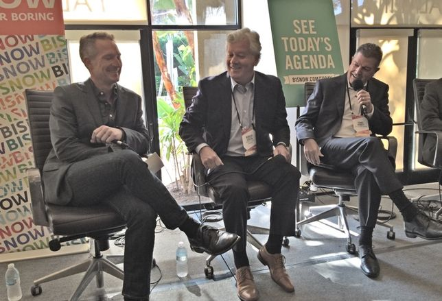 Moderator David McCullough, hotel developer Robert Green, and  commercial building Terry Arnett discuss bold, innovative projects rising in Downtown Sand Diego
