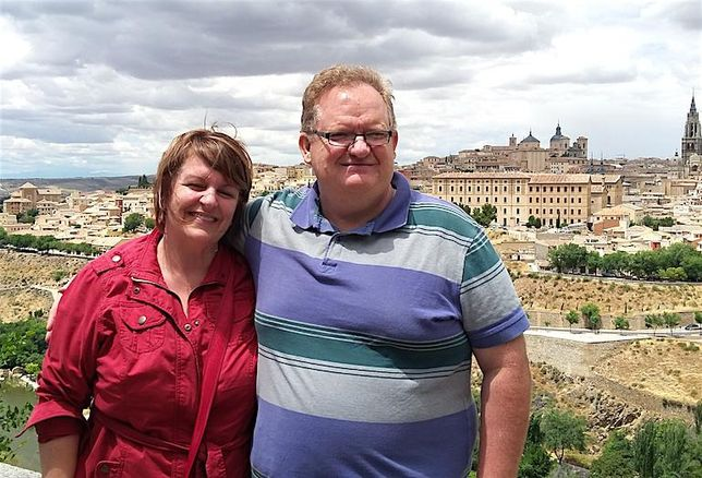 Morguard's Keith Reading and wife Renée in Spain.