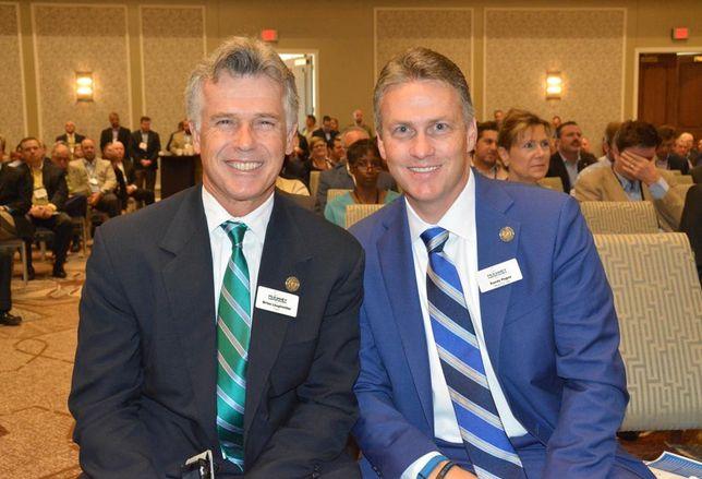 McKinney mayor Brian Loughmiller and McKinney mayor pro tem Randy Pogue