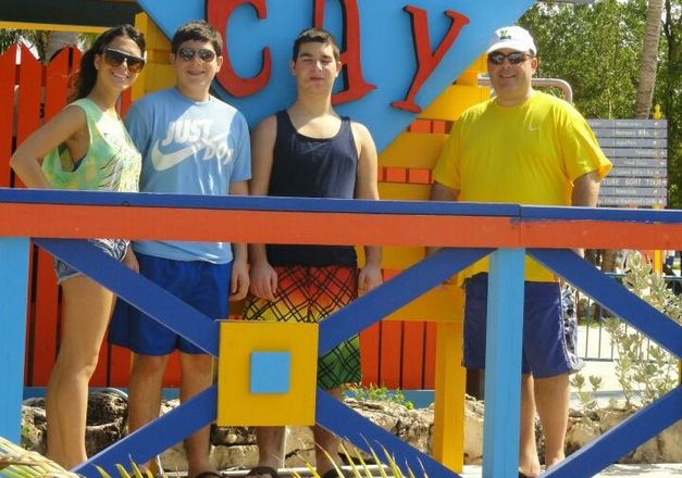 Portman Holdings SVP Thomas DeSousa, far right, on vacation with his children, daughter Megan and sons Kevin and Danny