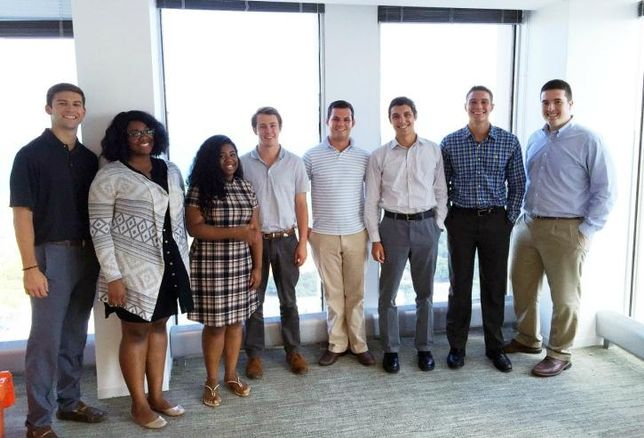 Draper and Kramer Summer 2016 Interns: Brennan Maisch (Ann Arbor, MI, senior, University of Michigan); Taylor Howard (Canton, MI, junior, University of Toledo); Nia Lackland (Chicago, freshman, Clark Atlanta University); D.J. Laux (Hinsdale, senior, Marquette University); Ben Stefani (Willowbrook, junior, University of Illinois Urbana-Champaign); Evan Kozlowski (Carol Stream, junior, Arizona State University); Matthew Stemper (Chicago, junior, University of Illinois Urbana-Champaign); Matt Smith (St. Charles, senior, Indiana University)