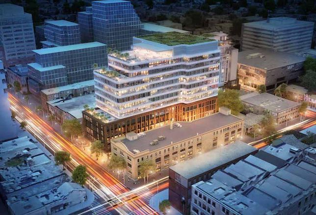 A rendering of King Portland Centre, an Allied Properties REIT and RioCan REIT JV.