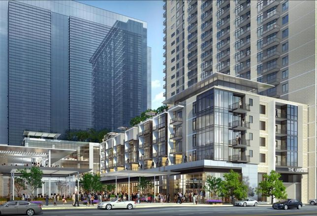 The Union Dallas: The mixed-use project in Uptown hopes to connect the Arts District, Victory Park and other surrounding 'hoods. A 22-story 420k SF office tower, 309-unit multifamily complex called The Christopher and 87k SF of retail with 5 or 6 restaurants (including Sam Fox's The Henry) will be anchored by a Tom Thumb.