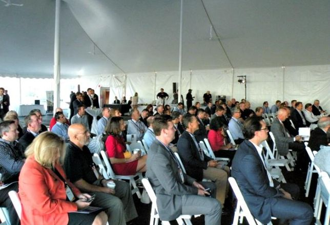A crowd shot from Bisnow's 5th annual data center boom in Chicago.