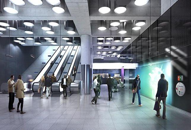 Architect's CGI of Tottenham Court Crossrail station