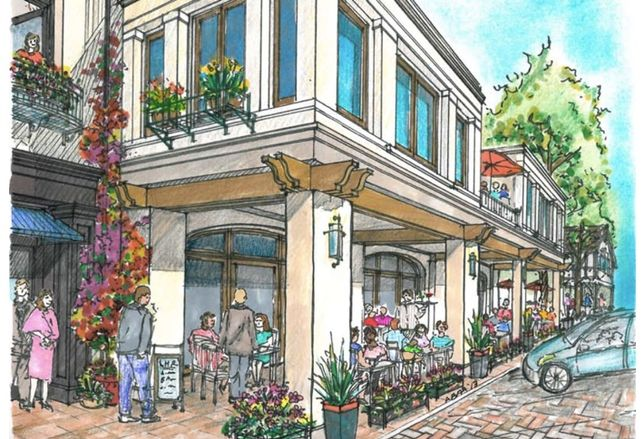 Conception vision of Lilac Hills Ranch shopping district.