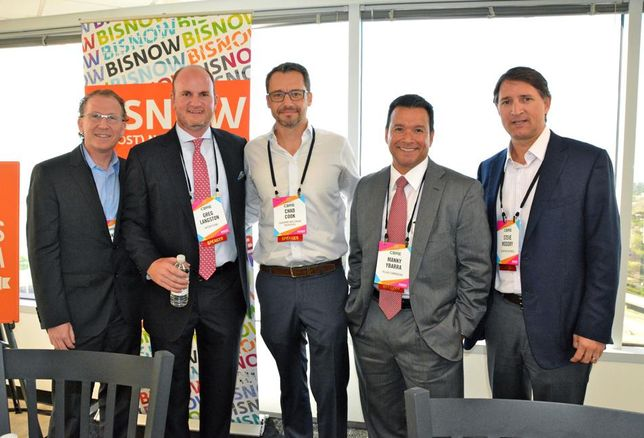PegausAblon Principal Mike Ablon, Avison Young Managing Director Greg Langston, Quadrant Investment Properties Chad Cook, Pillar Commercial Founder Manny Ybarra and Champion Partners Co-Managing Director Steve Modory